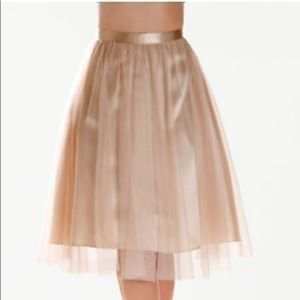 Boston Proper Black Tulle A-Line Skirt size M